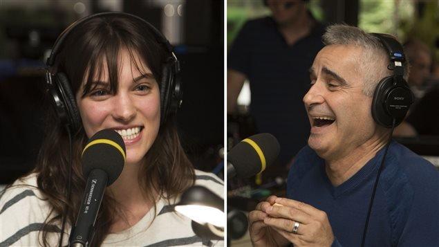 Patrice Coquereau Parasol et gobelets a Radio-Canada